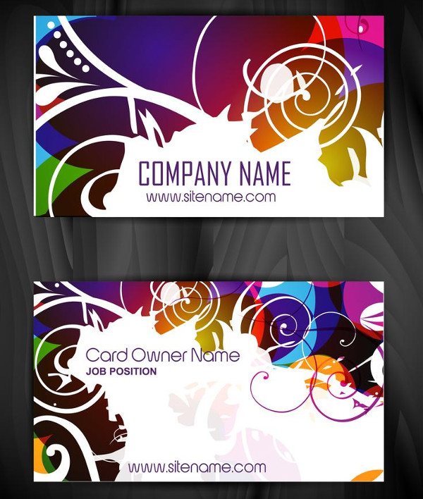 Floral Style Business Card Design Free Download