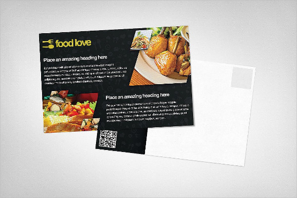 Food Love Postcard Design