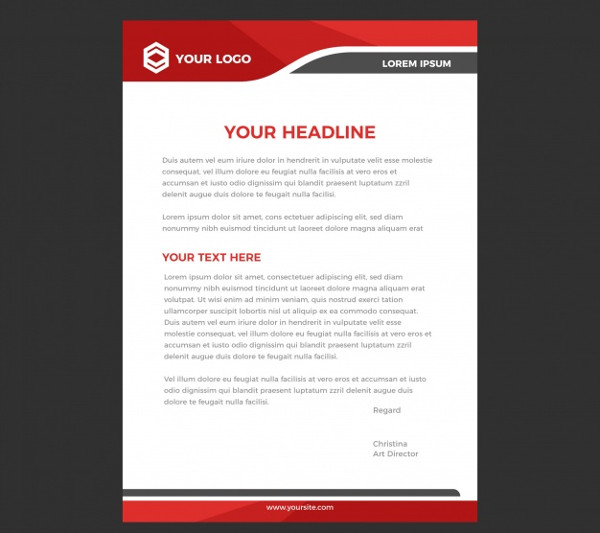 Free Business Letterhead Design Template Download