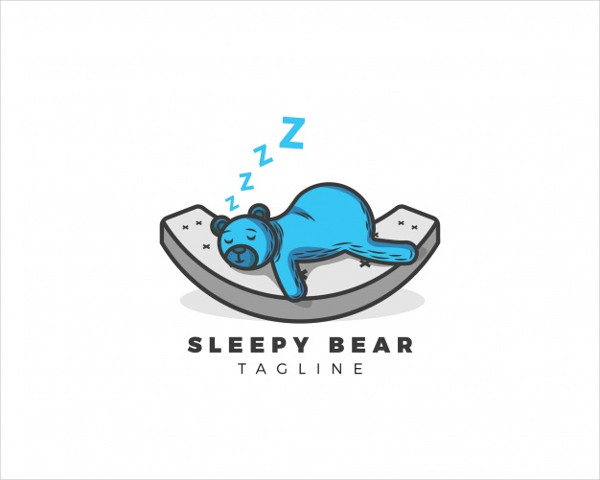 Free Download Sleepy Bear Logo
