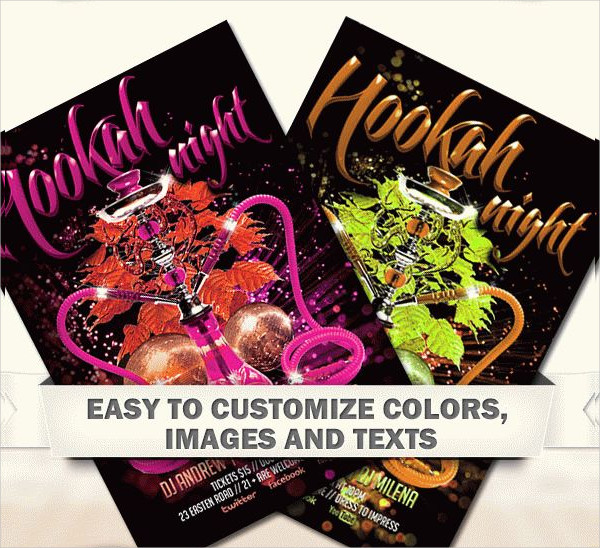 Free Flyer Template in PDS for Hookah