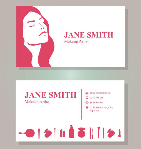Free Makeup Artist Business Cards Template Download