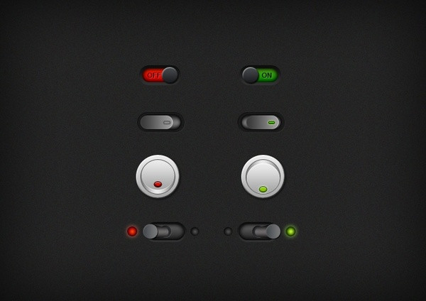 Free PSD On & Off Switch Buttons