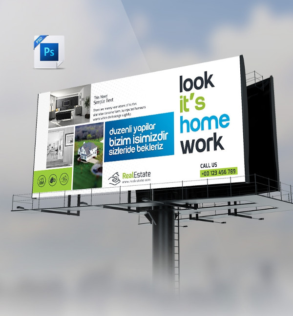 Free PSD Real Estate Billboard Banner