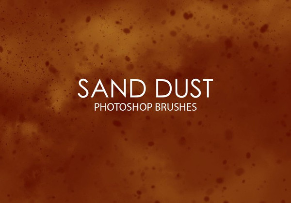 Free Sand Dust Photoshop Brushes