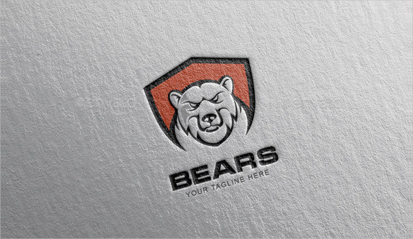 Fully Editable Bears Logo Design