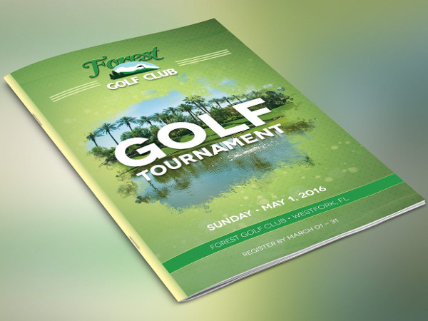 Golf Charity Brochure Template