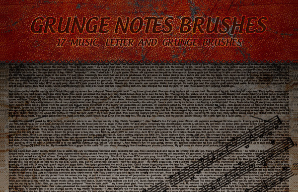 Grunge Notes Brushes