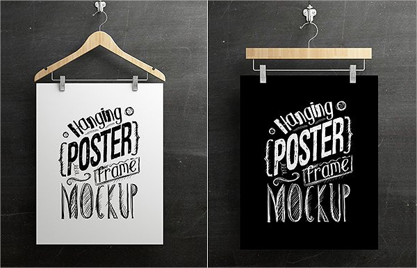 Hanging Poster Exhibition Mockup