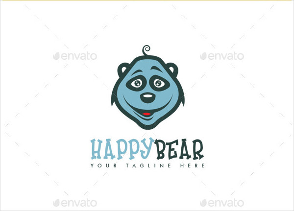Happy Bear Logo Design