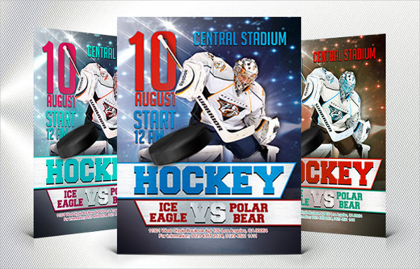 Hockey Free PSD Flyer Template