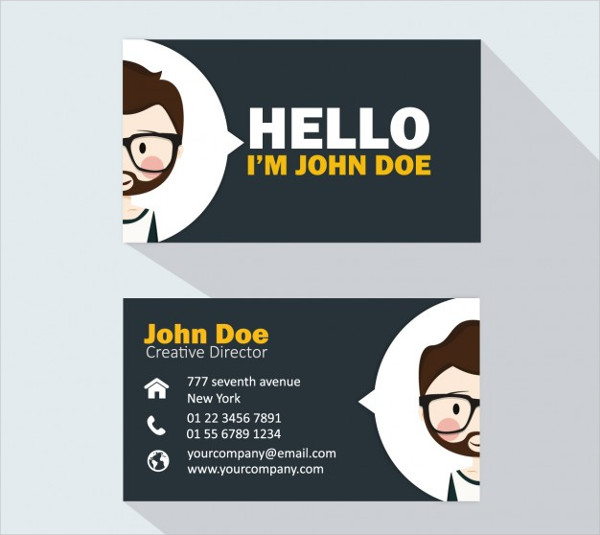 Kids Business Card Template Free Download