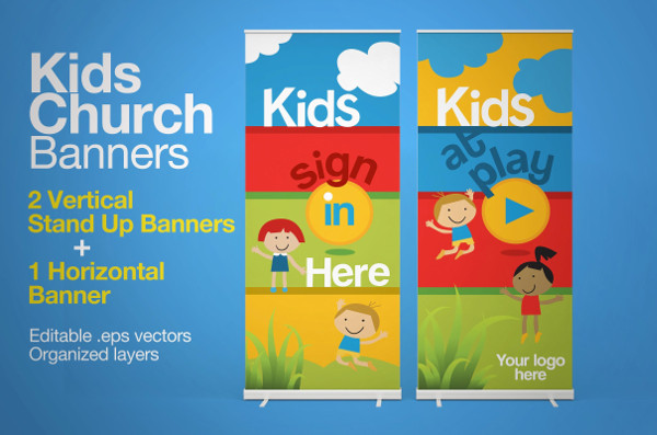 Kids Church Welcome Banner Templates