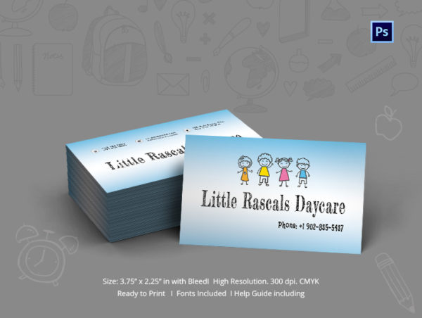 Simple Day Care Business Card Template