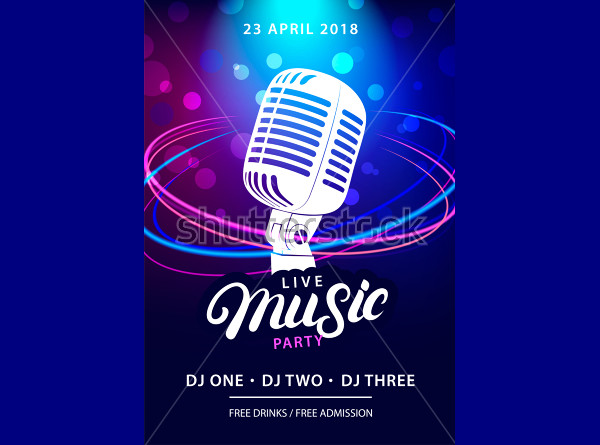 Live Music Party Design Template