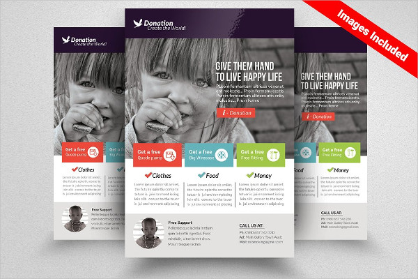 Clean Donation Flyer Templates