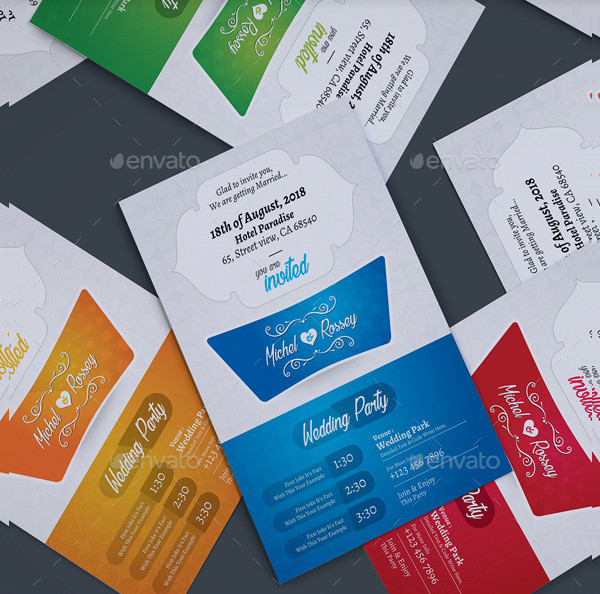 Marriage Party Invitation Card Template