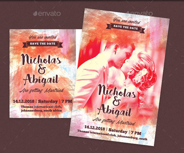 Marriage and Wedding Invitation Post Card