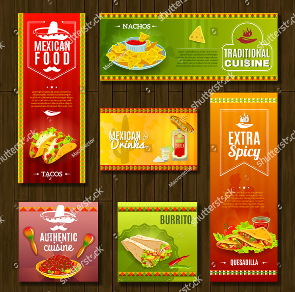 Mexican Food Cafe Banners Design