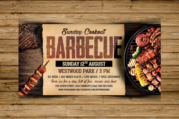 Modern Barbecue Flyer Template PSD