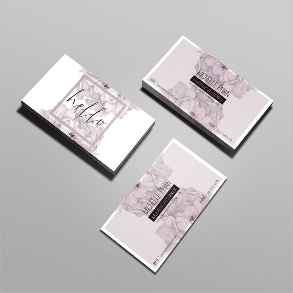 Modern Floral Business Card Template