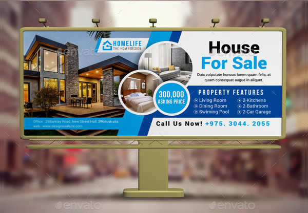 Modern Real Estate Billboard Design