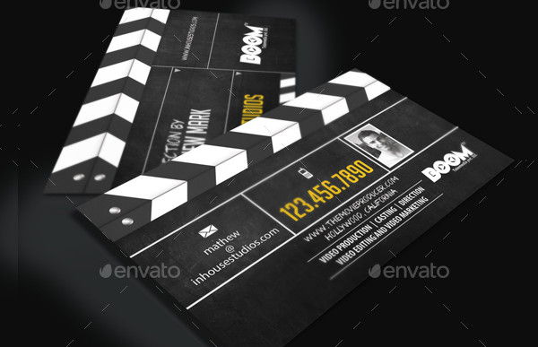Movie Producer Director Business Card