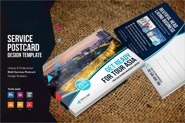 Multipurpose Travel Postcard Designs