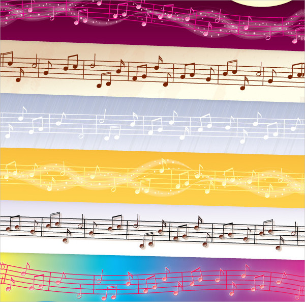Different Styles Music Vector Brushes