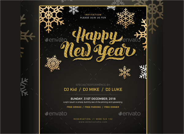 New Year Party Invitation Email Template