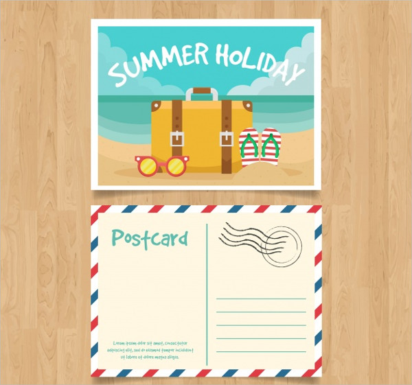 Nice Summer Travel Postcard Free Download