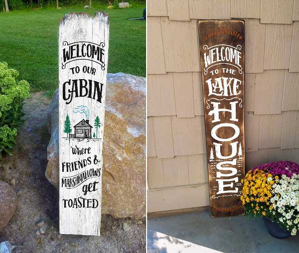 Outdoor Welcome Signs Set