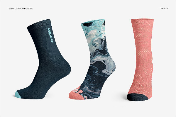 PSD Socks Mockups Design Set