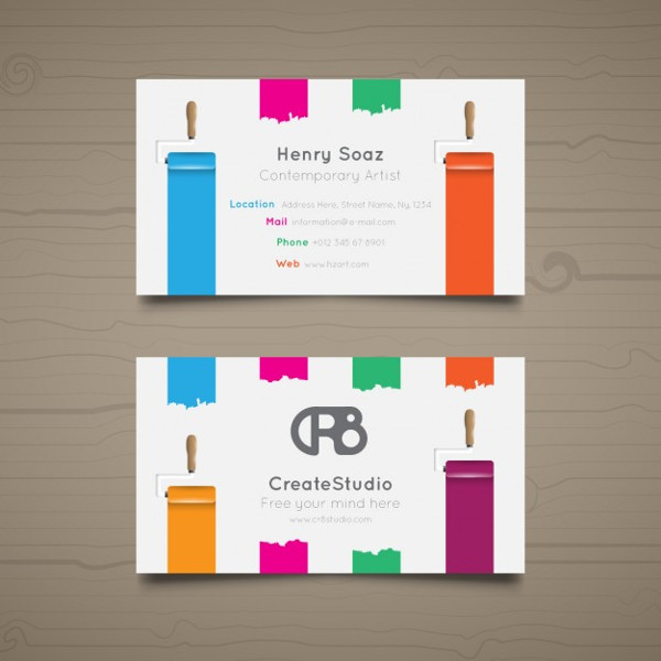 Painted Edge Business Cards Download for Free