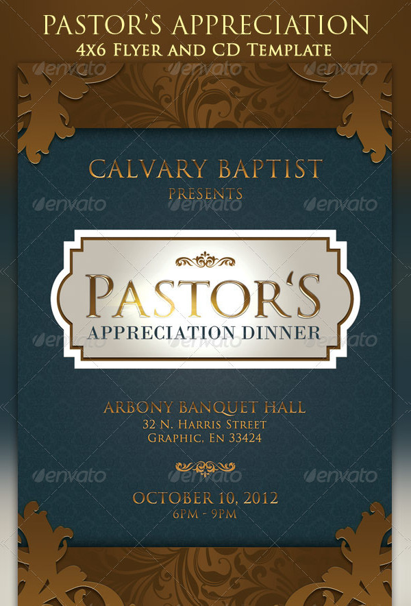 Pastor Anniversary Party Flyer