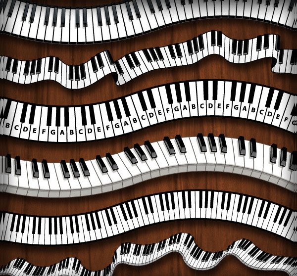 Piano Keys Pattern Brush Set