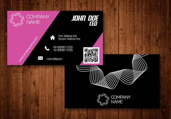 Pink Creative Business Cards Free Download