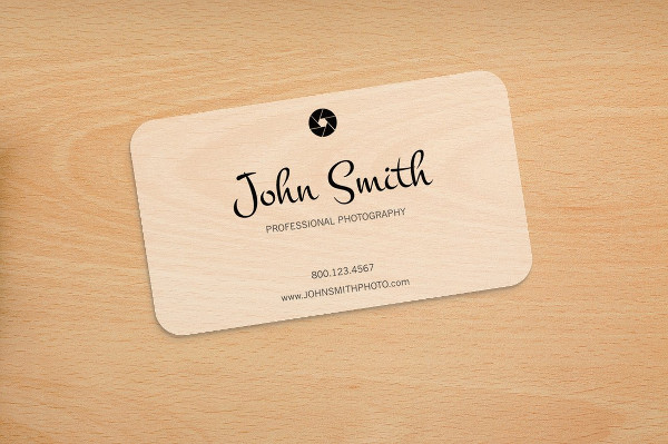Plastic Business Card Template with Rounded Corners