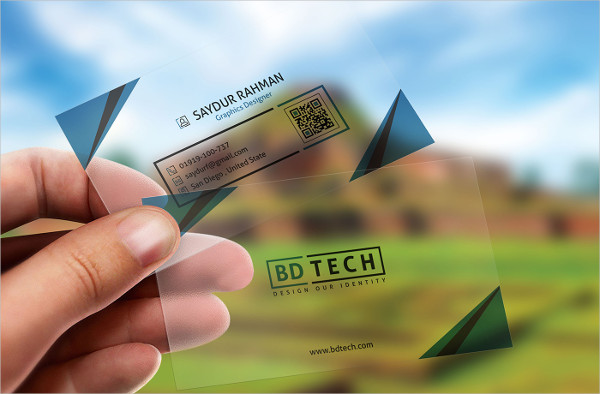 Plastic Business Cards Mockup Free Download