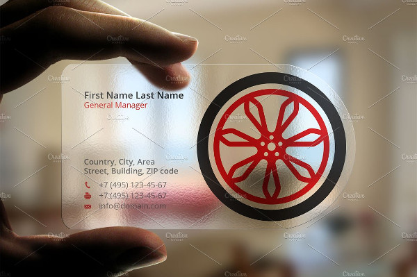 Plastic Wheel Business Card Template