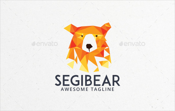 Polygonal Bear Logo Template
