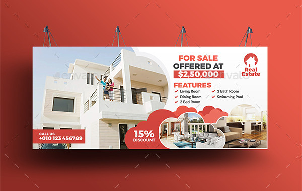 Popular Real Estate Billboard Template