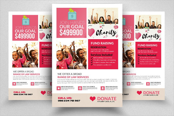 Pre Schooling Donation Flyer Template