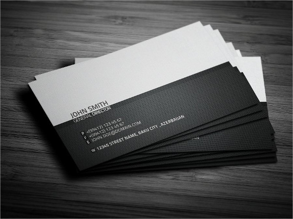 Print Ready Minimalist Business Card