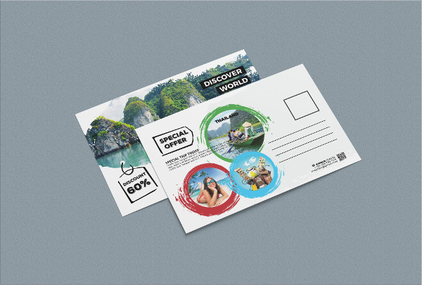 Print Ready Travel Postcard Template