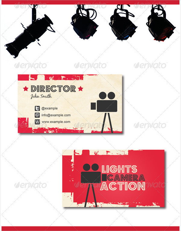 Printable Movie Themed Business Card