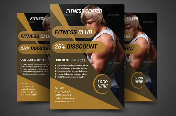 Elegant Fitness Flyer Template