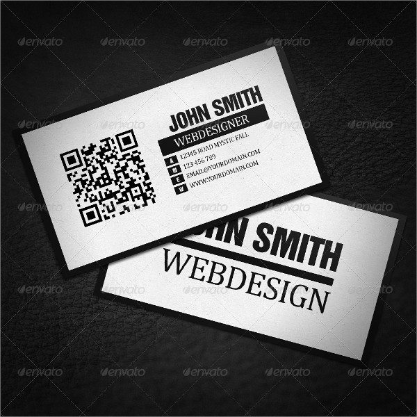 QR Code Minimalistic Business Card