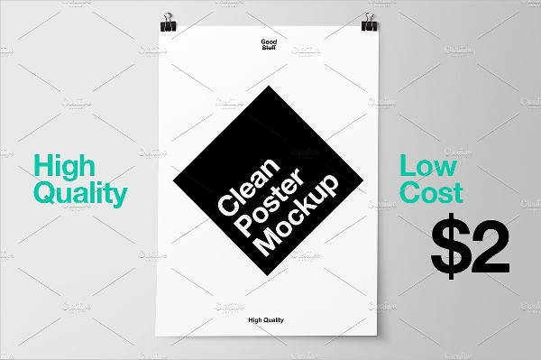 High Quality Hanging Poster Mockup