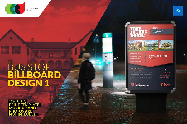 Real Estate Bus Stop Billboard Design